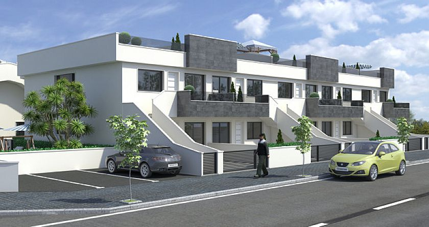 Modern build luxury apartments with communal swimming pool